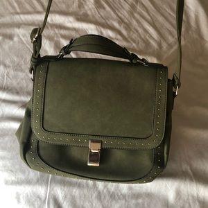 Green saddle purse